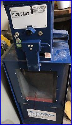 Vintage Coin Operated Sidewalk Newspaper Vending Machine