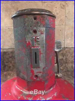 Vintage Coin Operated Vanline Lighter Fluid Dispenser Vending Machine Penny Rare