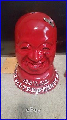 Vintage Coin Operated Vending Machine SMILIN SAM FROM ALABAM SALTED PEANUT MAN