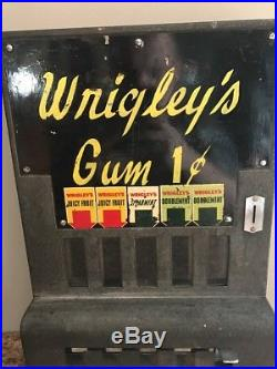 Vintage Coin Operated Wrigleys Gum Machine Penny Operated Chewing Gum