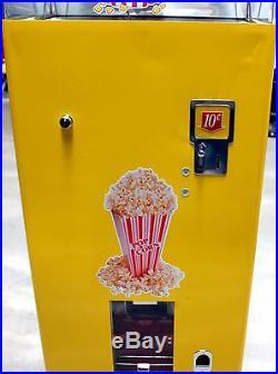 Vintage Coin op Popcorn Vendor Vending Machine Federal Machine