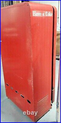 Vintage Coke Coca-Cola Bottle Vending Machine Model E110A Vendo Co. 64 inch Tall