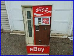 Vintage Coke Coca Cola Cavalier CSS-64GC Vending Machine F-12 55 tall all metal