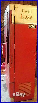 Vintage Coke Machine 1950's Vendo E110L