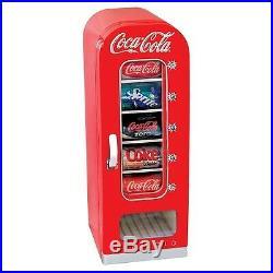 Vintage Coke Vending Machine Mini Red Retro Kitchen Fridge Ice Coca Cola Rewards