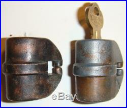 Vintage Columbus Barrel Locks for Gumball Peanut Vending Machine 1920's-1930's