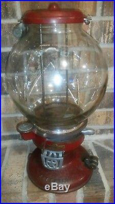 Vintage Columbus Model A 1 Cent Coin Op Peanut Vending Machine