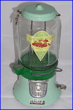 Vintage Columbus Model M Peanut Vending Machine with Octagon Globe