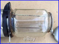 Vintage Columbus Octagonal Glass Gumball Vending Machine