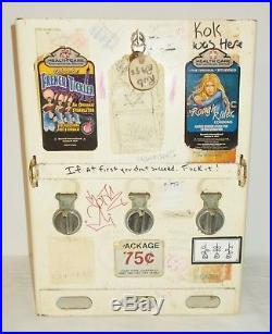 Vintage Condom Machine Triple Coin Operated Graffiti Man Cave Garage Display