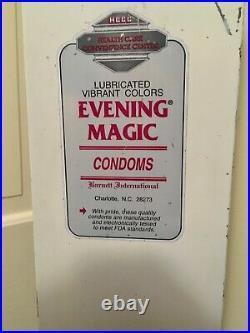 Vintage Condom Vending MachineCoin Op Evening Magic50 CentGreat Shape