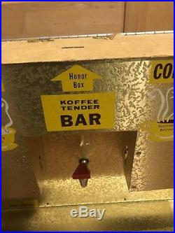 Vintage Counter Top Diner Coffee Tea Soup Vending Machine Honor Box Tender Bar