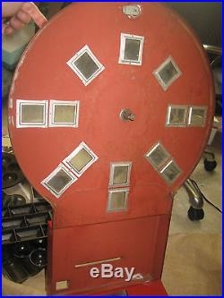 Vintage DIAL A SMOKE CIGARETTE VENDING MACHINE wall mount counter top coin op