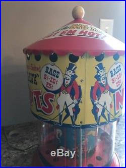 Vintage D-lux Hot Nut Machine Carnival Circus Sideshow Rare