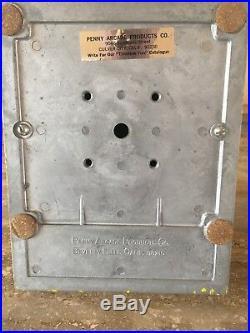 Vintage Dean 1 Cent Penny Yellow Gum Ball Vending Machine Original