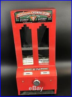 Vintage Delicious Penny Chewing Gum Dispenser With 1 Key Jolly Good Industries