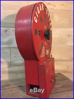 Vintage Dial A Smoke Cigarette Vending Machine Early 30 Cent Red 1940's