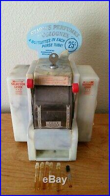 Vintage Diner Coin-Operated Perfumes and Colognes napkin dispenser with Marquee