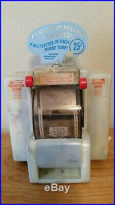 Vintage Dinner Coin-Operated Perfumes and Colognes napkin dispenser with Marquee