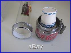 Vintage Dixie Cup Tall Glass Dome Wall Dispenser Coca Cola Metal Original 19