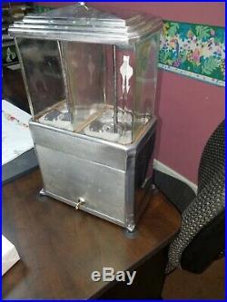 Vintage Double Nugget 1c Art Deco Peanut Dispenser Circa 1937 look COOL