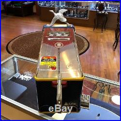 Vintage Duck Hunter Shooting Arcade Gumball Vending Machine Penny Game Working