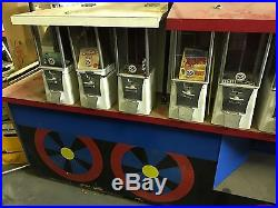 Vintage EAGLE Vending Machine 25 cent Train Engine Display Lot State Fair MALLS