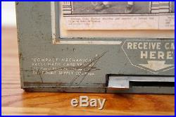 Vintage Exhibit Supply Company Baseball Card Vending Machine 2 Cent Vacuumatic