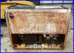 Vintage Extra Large 7 UP Embossed Cooler Refridgerator