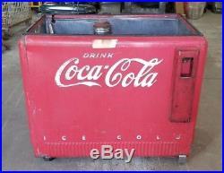 Vintage Extra Large Coca-Cola Embossed Cooler Refridgerator Coca Cola Coke