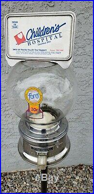 Vintage FORD 10 Cent GUMBALL MACHINE Original Collectors Piece