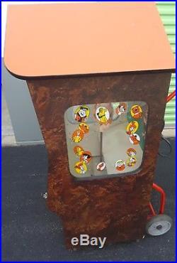 Vintage Flintstones Lucky Egg Vending Machine Working