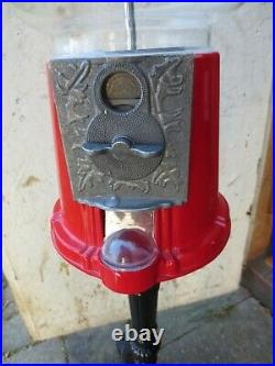 Vintage Floor Model Bubble Gum Or Candy Machine, Great Condition