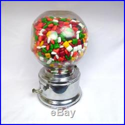 Vintage Ford Bubblegum Machine Penny 1 Cent with Original Glass Globe & Key
