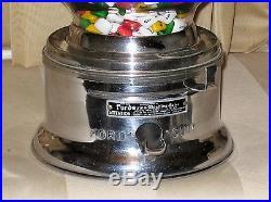 Vintage Ford Chicklet Machine One Cent Penny Gum vending antique peanut gumball
