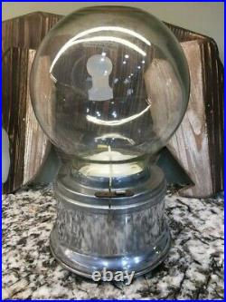 Vintage Ford Gum Gumball Machine Glass Globe with Original Lock & key
