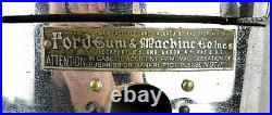Vintage Ford Gum & Machine Co. Gumball Machine Glass Globe Lions Club Sticker