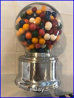 Vintage Ford Gumball Machine Glass Dome with Plastic Dispenser Cover