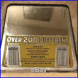 Vintage Fortune Dream Quiz Question 200 Different Coin Operated Teller WORKING