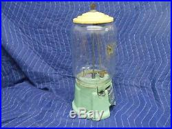 Vintage Green and Yellow Porcelain Northwestern 39 Penny Vending Machine