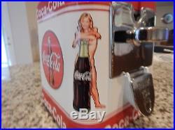 Vintage GumBall/Peanut Machine Oak Acorn Coca Cola Theme Vending Coin OP 10 cent