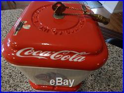 Vintage Gum Ball/Peanut Machine 1940s Coke Theme Oak Universal Vending Coin OP