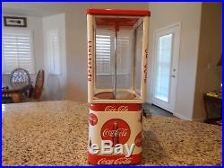 Vintage Gum Ball/Peanut Machine Oak Acorn Coca Cola Theme Vending Coin OP