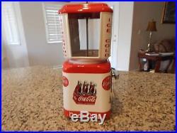Vintage Gum Ball/Peanut Machine Oak Acorn Coca Cola Theme Vending Coin OP 10cent