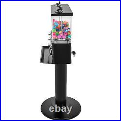 Vintage Gumball Bank Bubble Gum Candy Vending Machine 3 Head Metal Stand Black