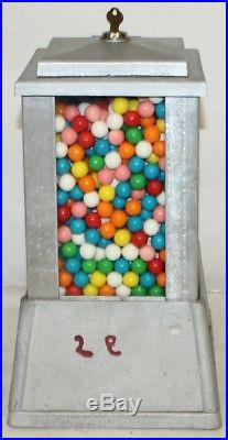 Vintage Gumball Machine 1930's SUN 5 Cents Vending Machine Coin Op Store