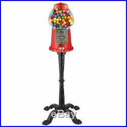 Vintage Gumball Machine Candy Vending With Stand Bubble Gum Dispenser Bank New