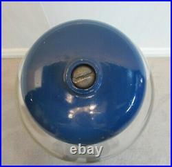 Vintage Gumball Machine, Cast Iron, Blue, Works