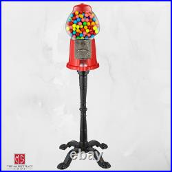 Vintage Gumball Vending Machine Bank with Stand Classic Style Candy Dispenser