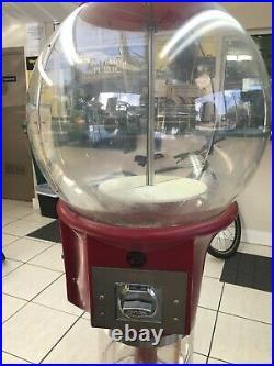 Vintage Gumball Wizard Spiral/Corkscrew Gum Ball 25Cents Machine CANDY Red RARE